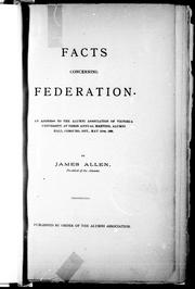 Cover of: Facts concerning federation