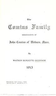 Cover of: Comins family | Watson Burdette O