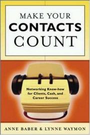 Cover of: Make Your Contacts Count | Anne Baber