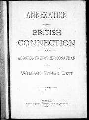 Cover of: Annexation and British connection | by William Pitman Lett.