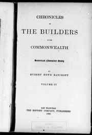 Cover of: Chronicles of the builders of the commonwealth |