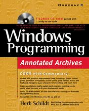 Cover of: Windows Programming Annotated Archives