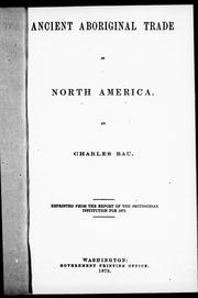 Cover of: Ancient aboriginal trade in North America