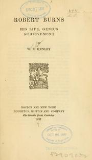 Cover of: Robert Burns: his life, genius, achievement