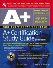 Cover of: A+ Certification Study Guide | Syngress Media
