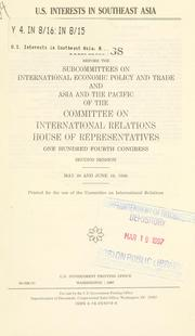 Cover of: U.S. interests in Southeast Asia