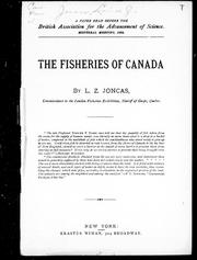 Cover of: The fisheries of Canada |