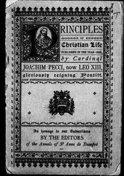 Cover of: Principles of christian life