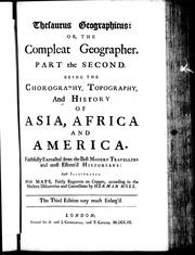 Cover of: Thesaurus geographicus, or, The compleat geographer by