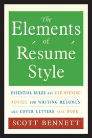 Cover of: The Elements Of Resume Style