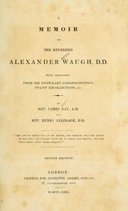 Cover of: memoir of the Reverend Alexander Waugh | James Hay