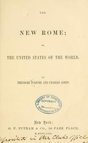 Cover of: New Rome | Theodore Poesche