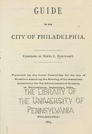 Cover of: Guide to the city of Philadelphia | Rufus C. Hartranft
