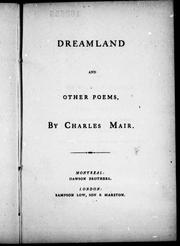 Cover of: Dreamland and other poems