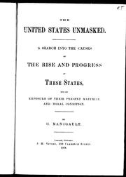 Cover of: The United States unmasked