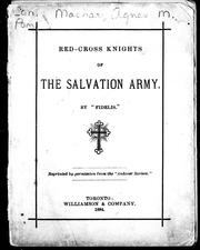 Cover of: Red-cross knights of the Salvation Army | Agnes Maule Machar