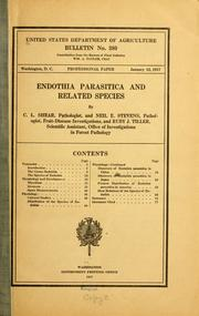 Cover of: Endothia parasitica and related species