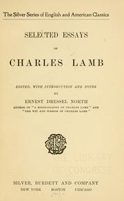 Selected essays of Charles Lamb