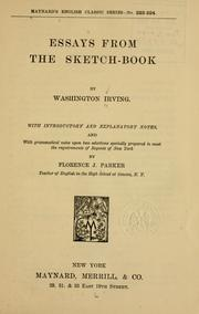 Cover of: Essays from the Sketch-book | Washington Irving