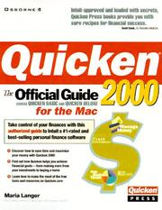 Cover of: Quicken 2000 for the Mac: The Official Guide
