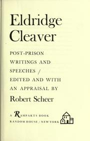 Cover of: Eldridge Cleaver: post-prison writings and speeches