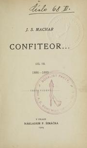 Cover of: Confiteor--