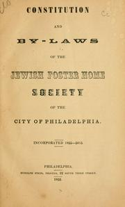 Cover of: Constitution, By-Laws, Regulations | Jewish Hospital Association of Philadelphia.