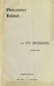 Cover of: Vancouver Island and its missions, 1874-1900