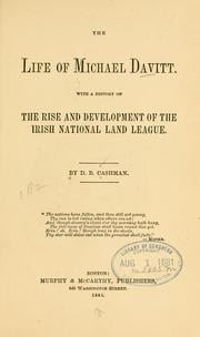 Cover of: life of Michael Davitt. | D. B. Cashman