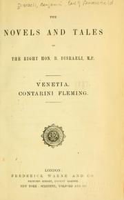 Cover of: Venetia ; Contarini Fleming