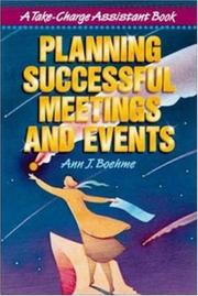 Cover of: Planning Successful Meetings and Events
