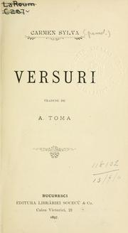 Cover of: Versuri