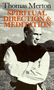 Cover of: Spiritual Direction and Meditation