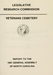 Cover of: Veterans cemetery | North Carolina. General Assembly. Legislative Research Commission.