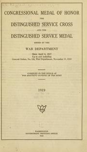 Cover of: Congressional medal of honor | United States. Adjutant-General