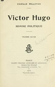 Cover of: Victor Hugo, homme politique