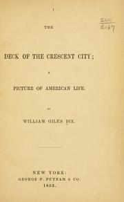 Cover of: deck of the Crescent City | W. E. Dix
