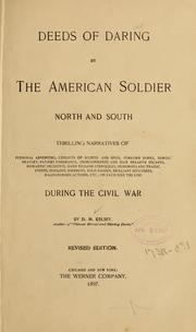 Cover of: Deeds of daring by the American soldier | D. M. Kelsey