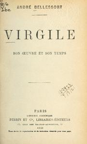 Cover of: Virgile, son oeuvre et son temps