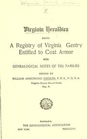 Cover of: Virginia heraldica | William Armstrong Crozier