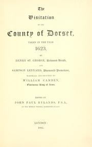 Cover of: The visitation of the county of Dorset | Henri Georges Stephane Adolphe Opper de Blowitz