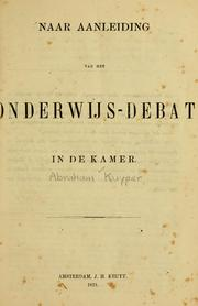 Cover of: De schoolkwestie
