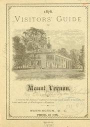 Cover of: Visitors' guide to Mount Vernon