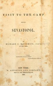 A visit to the camp before Sevastopol by Richard C. McCormick