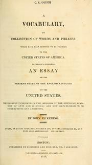 Cover of: A vocabulary