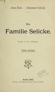 Cover of: Die Familie Selicke