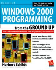 Cover of: Windows 2000 programming from the ground up