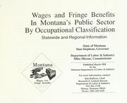 Cover of: Wages and fringe benefits in Montana