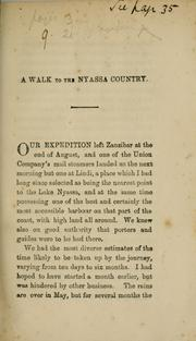 Cover of: A walk to the Nyassa country