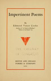 Cover of: Impertinent poems | Cooke, Edmund Vance